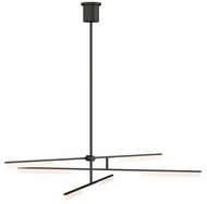 Tech 700KLE6B-LED930 Klee Contemporary Nightshade Black LED Hanging Chandelier