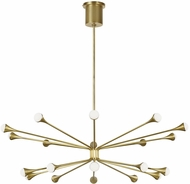 Tech 700LDY20R-LED930 Lody Contemporary Aged Brass LED Chandelier Lamp