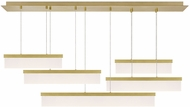 Tech 700LSSWPR-LED930 Sweep Contemporary Aged Brass LED Kitchen Island Lighting