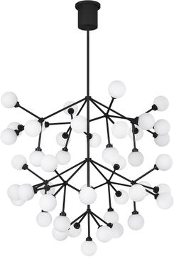 Tech 700MRAGWB-LED927 Mara Grande Contemporary Matte Black LED Chandelier Lamp