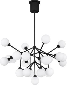 Tech 700MRAWB-LED927 Mara Modern Matte Black LED Chandelier Light