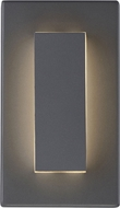 Tech 700OWASP9308DH Aspen Contemporary Charcoal LED Outdoor 8 Lamp Sconce