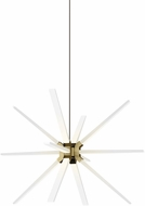 Tech 700PHT34R-LED930 Photon Modern Aged Brass LED Chandelier Lighting