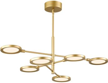 Tech 700SPCTG-LED930 Spectica Contemporary Satin Gold LED Hanging Chandelier
