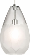 Tech 700TDBRLGFS Briolette Grande Modern Satin Nickel Mini Ceiling Pendant Light