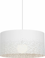 Tech 700TDCSDGW Crossblend Grande Modern Matte White Drum Drop Lighting Fixture