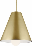 Tech 700TDJNIR-LED930 Joni Contemporary Aged Brass LED Drop Ceiling Light Fixture