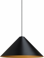 Tech 700TDKONPBG Konos Modern Black/Satin Gold Line Voltage Pendant Hanging Light