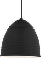 Tech 700TDLOFBW Loft Contemporary Rubberized Black w/ White Interior Mini Drop Ceiling Light Fixture