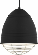 Tech 700TDLOFBWN Loft Contemporary Rubberized Black w/ White Interior Mini Pendant Lighting