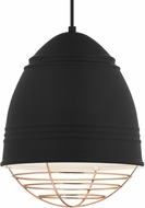 Tech 700TDLOFBWP Loft Modern Rubberized Black w/ White Interior Mini Pendant Light