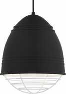 Tech 700TDLOFBWW Loft Contemporary Rubberized Black w/ White Interior Mini Lighting Pendant
