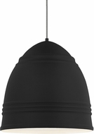 Tech 700TDLOFGPBW Loft Grande Contemporary Rubberized Black w/ White Interior Hanging Pendant Lighting