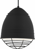 Tech 700TDLOFGPBWB Loft Grande Modern Rubberized Black w/ White Interior Hanging Pendant Light