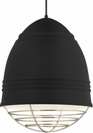 Tech 700TDLOFGPBWN Loft Grande Contemporary Rubberized Black w/ White Interior Pendant Hanging Light