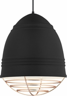 Tech 700TDLOFGPBWP Loft Grande Modern Rubberized Black w/ White Interior Hanging Light Fixture