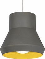 Tech 700TDMLOGC Milo Suspension Contemporary Gray Outside/Chartreuse Inside Hanging Pendant Lighting