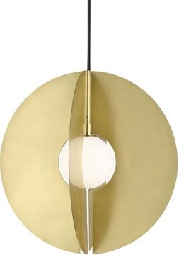 Tech 700TDOBLRR Orbel Contemporary Aged Brass LED Hanging Lamp