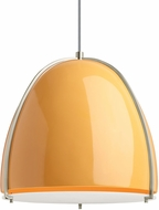 Tech 700TDPRVPAS Paravo Modern Tangerine/Satin Nickel Line Voltage Ceiling Light Pendant