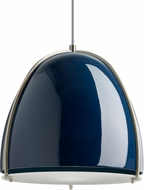 Tech 700TDPRVPUS Paravo Contemporary Blue/Satin Nickel Line Voltage Drop Lighting Fixture