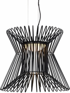 Tech 700TDSYRPB-LED930 Syrma Contemporary Matte Black LED Line Voltage Hanging Light