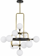 Tech 700VGOOR-LED930 Viaggio Modern Opal / Brass LED Hanging Chandelier