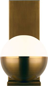 Tech 700WSAKVRR-LED927 Akova Contemporary Aged Brass/Bright Brass LED Wall Light Sconce