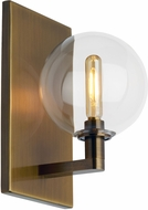 Tech 700WSGMBSCR Gambit Modern Aged Brass LED Wall Mounted Lamp