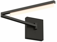 Tech 700WSKLEB-LED930 Klee Contemporary Nightshade Black LED Wall Swing Arm Lamp