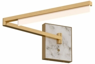 Tech 700WSKLENB-LED930 Klee Modern Natural Brass LED Swing Arm Wall Lamp