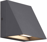 Tech 700WSPITSH Pitch Modern Charcoal Exterior Wall Lighting