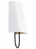 Tech 700WSPLLGBW-LED Pull Large Contemporary 12 Inch Tall Black Cord White Wall Sconce Light