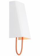 Tech 700WSPLLGOW-LED Pull Large 12 Inch Tall Modern Orange Cord White Wall Light Sconce