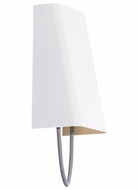 Tech 700WSPLLGYW-LED Pull Large Gray Cord 12 Inch Tall White Lighting Sconce