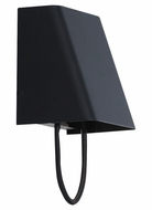 Tech 700WSPLSMBB-LED Pull Small Black Cord 7 Inch Tall Modern Black Sconce Light Fixture