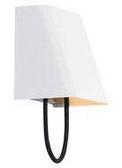 Tech 700WSPLSMBW-LED Pull Small White Finish Contemporary Black Cord Wall Sconce Lighting