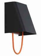 Tech 700WSPLSMOB-LED Pull Small Contemporary Orange Cord 7 Inch Tall Black Wall Lighting Sconce