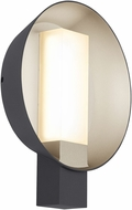 Tech 700WSRFGRLHS-LED927 Refuge Contemporary Charcoal/Satin Haze LED Outdoor Wall Sconce