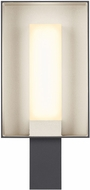 Tech 700WSRFGSSHS-LED927 Refuge Contemporary Charcoal/Satin Haze LED Outdoor Lamp Sconce