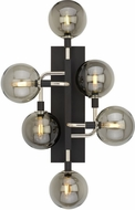 Tech 700WSVGOSN-LED927 Viaggio Contemporary Smoke / Polished Nickel LED Light Sconce