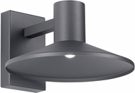 Tech ASH-12-WALL-CHARCOAL Ash Modern Charcoal LED Outdoor 14.6 Wall Sconce