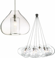 Tech Cheers Clear Glass Low-Voltage Halogen Art Glass Pendant Light