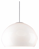 Tech Cleo Line-Voltage Large 21 Inch Diameter White Hanging Light Fixture