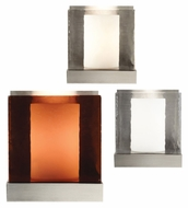 Tech Corbel Bubble Glass 7 Inch Tall Cubical Wall Light Fixture - Modern