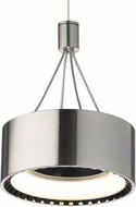 Tech CORUM-PENDANT Corum Contemporary Satin Nickel LED Mini Hanging Pendant Light