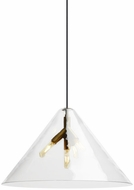 Tech CUNEO-PENDANT-CLEAR-QUATNIK Cuneo Contemporary LED Line Voltage Drop Lighting Fixture