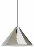 Tech CUNEO-PENDANT-TRANSPARENT-SMOKE Cuneo Contemporary LED Line Voltage Pendant Light