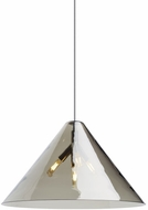 Tech CUNEO-PENDANT-TRANSPARENT-SMOKE-QUATNIK Cuneo Modern LED Line Voltage Lighting Pendant
