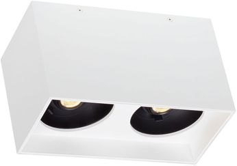 Tech EXO-CEILING-DUAL-WHITE-WHITE Exo Contemporary White LED Flush Lighting