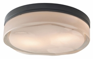 Tech Fluid Square Modern Ceiling Mount 11 Inch Diameter Flush Lighting - Large
